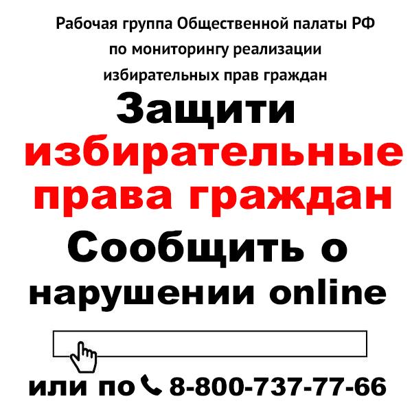 Защити избирательные права граждан